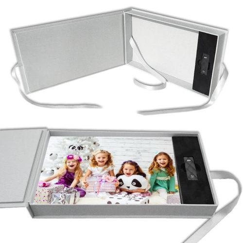 Pudełko na zdjęcia z miejscem na pendrive - motyw dziecięcy