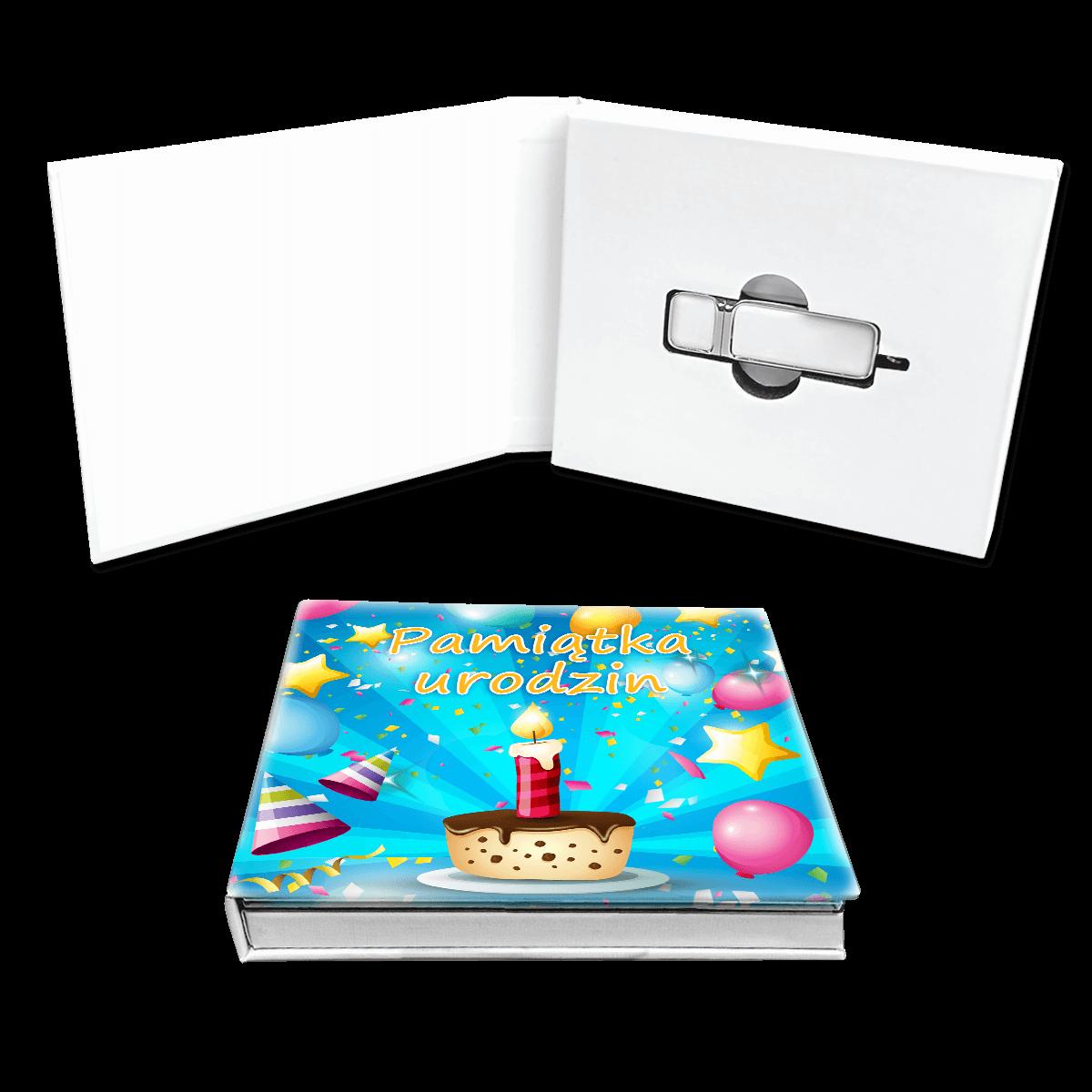 motyw urodzinowy - opakowanie na pendrive