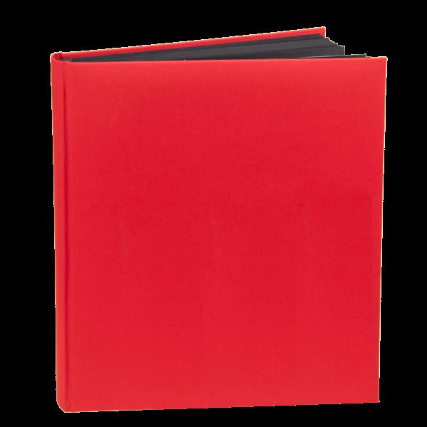 album w płótnie czerwonym